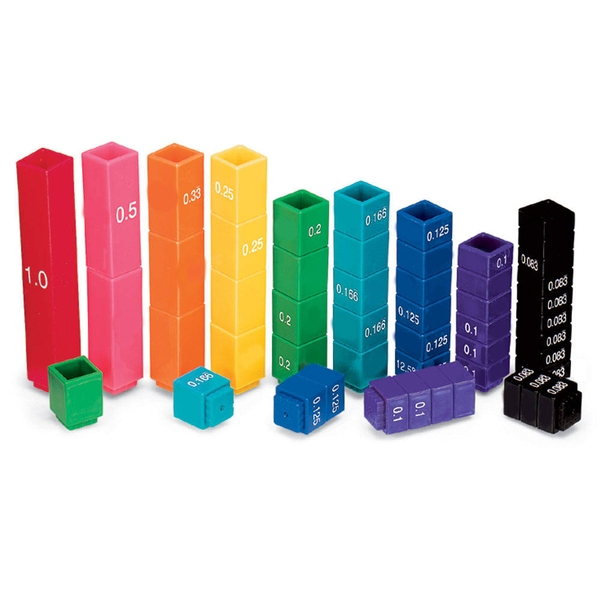 Learning Resources Fraction Tower Equivalency Cubes (Set of 51)