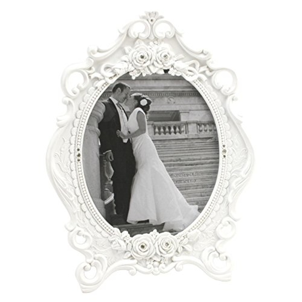 "8"" x 10"" - Impressions Ornate Oval Photo Frame with Crystals"