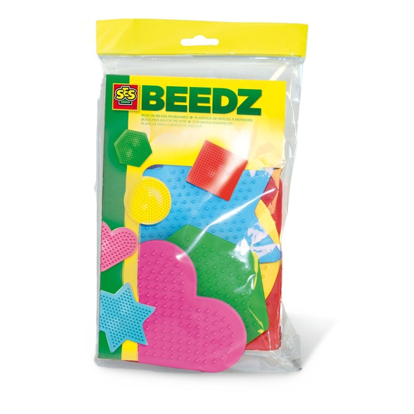 SES Creative - Children's Beedz Iron-on Beads Pegboards Mosaic Set 5 Pieces (Multi-colour)