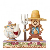 Workin Round the Clock Mrs Potts & Cogsworth Figurine