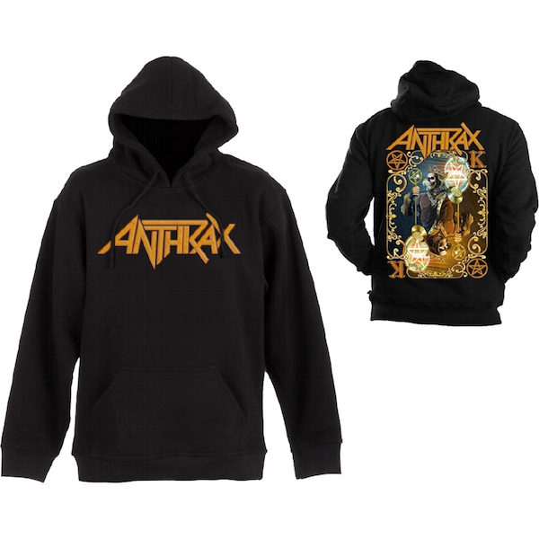 Anthrax - Evil Twin Unisex Small Pullover Hoodie - Black
