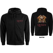 Queen - Classic Crest Men's XXX-Large Zipped Hoodie - Black