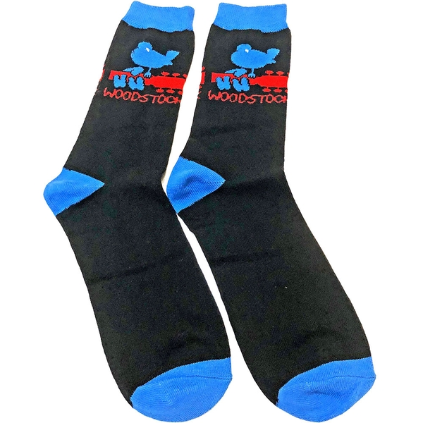 Woodstock - Logo Unisex Ankle Socks - Black