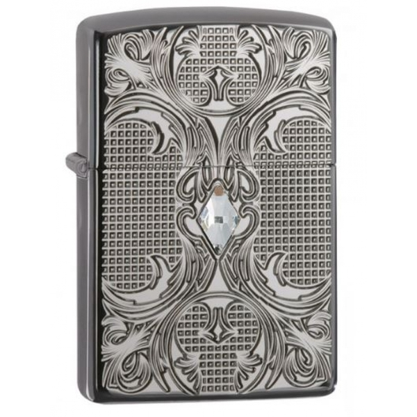 Zippo Armor Crystal High Polish Black Ice