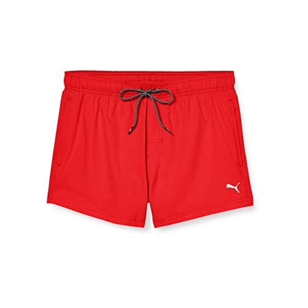 Puma Men's Short Length Swim Shorts Large Red