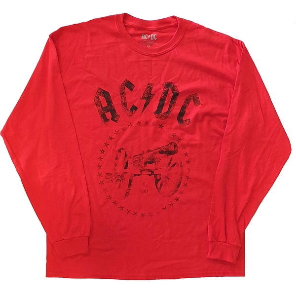 AC/DC - For Those About to Rock Unisex Small T-Shirt - Red