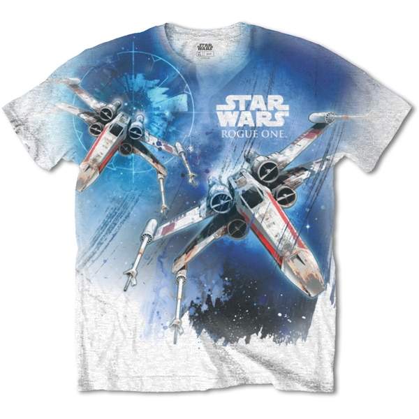 Star Wars - Rogue One X-Wing Unisex Small T-Shirt - Sublimated,White