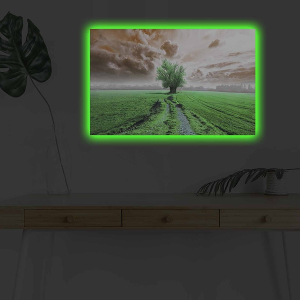4570DHDACT-103 Multicolor Decorative Led Lighted Canvas Painting