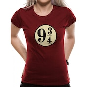 Harry Potter - Platform 9 3/4s Women's Large T-Shirt - Red