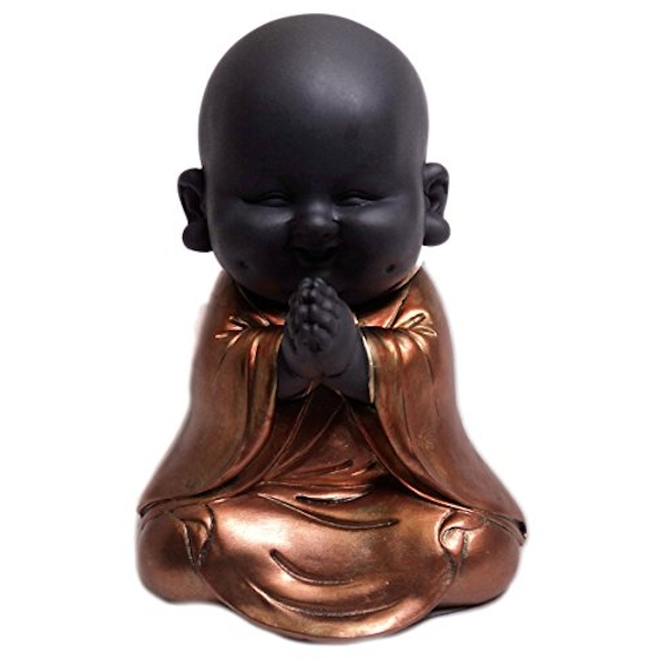 HESTIA? Rose Gold Buddha Figurine - Praying