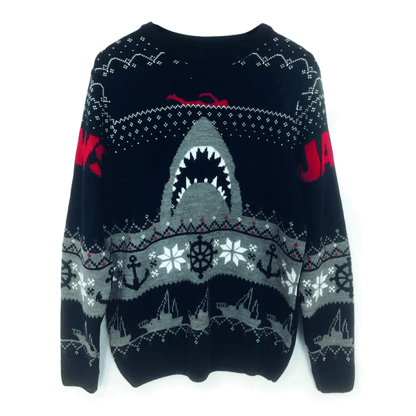 Jaws - Shark Unisex Christmas Jumper Small