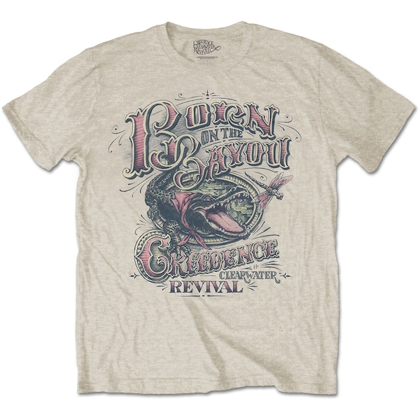 Creedence Clearwater Revival - Born on the Bayou Unisex Large T-Shirt - Neutral