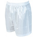 Precision Striped Continental Football Shorts 38-40 inch White