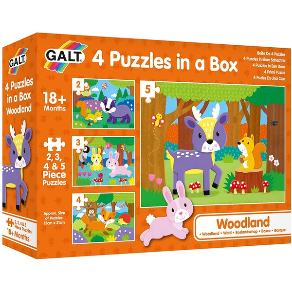 Woodland 4 Puzzles In A Box