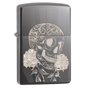 Zippo Fancy Skull Design Black Regular Windproof Lighter
