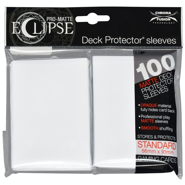 Ultra Pro Arctic White Card Sleeves - 100 Sleeves