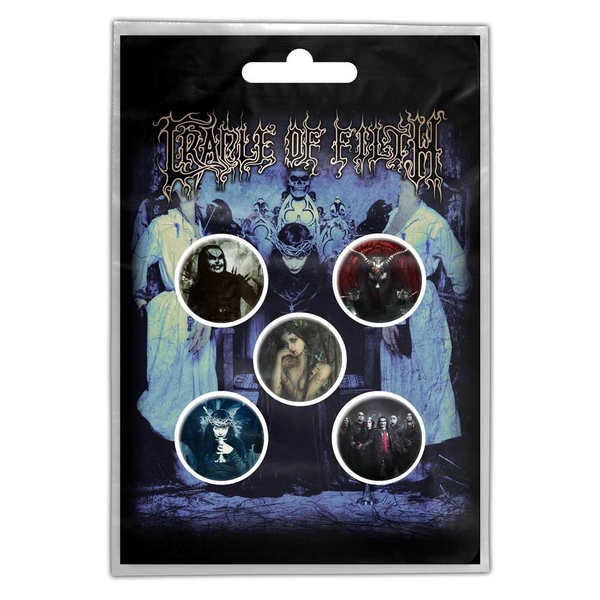 Cradle Of Filth - Cryptoriana Button Badge Pack