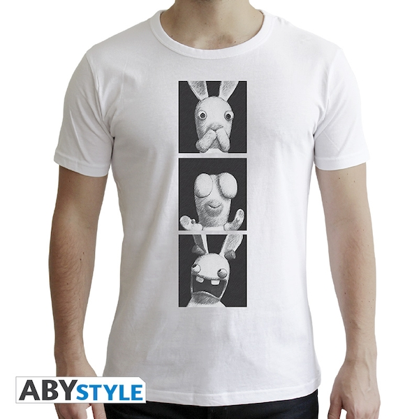 Lapins Cretins - 3 Wise Rabbids Men's Small T-Shirt - White - Image 1