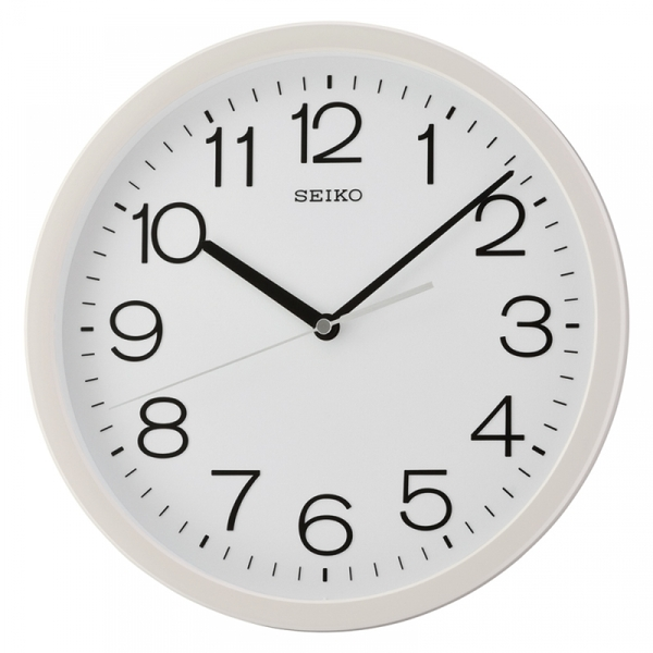 Seiko QXA693W Round Wall Clock with White Case