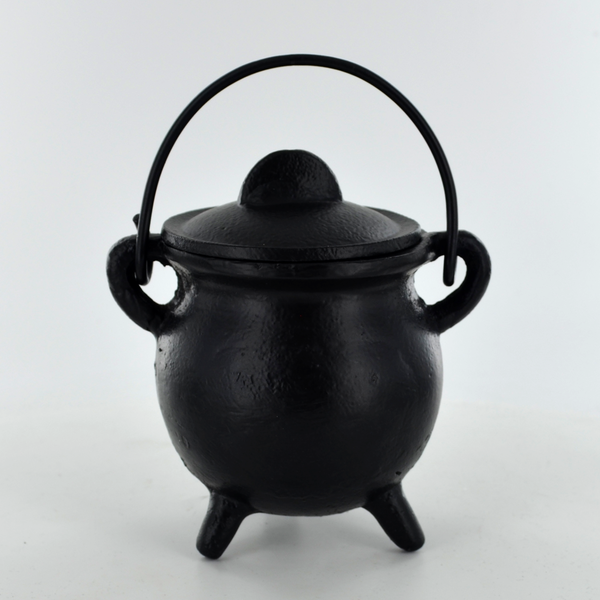 Plain Small Cast Iron Cauldron Ornament