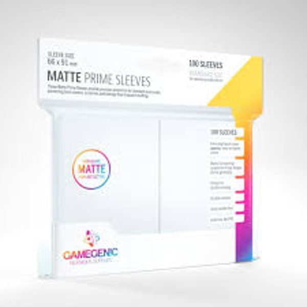 Gamegenic Matte Prime Sleeves White (100 Sleeves)