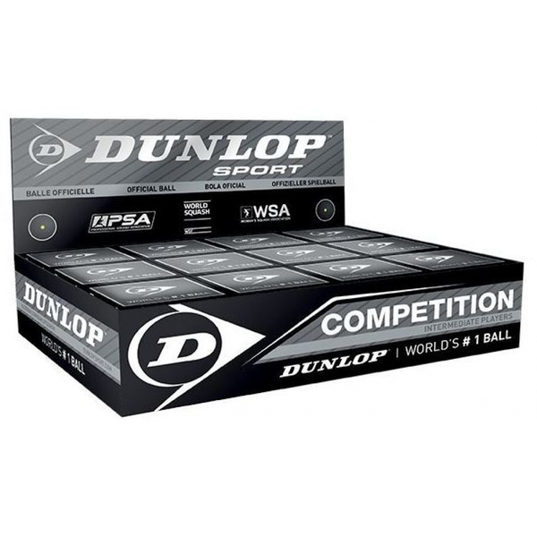 Dunlop Competition Squash Balls 1 Ball Box 12