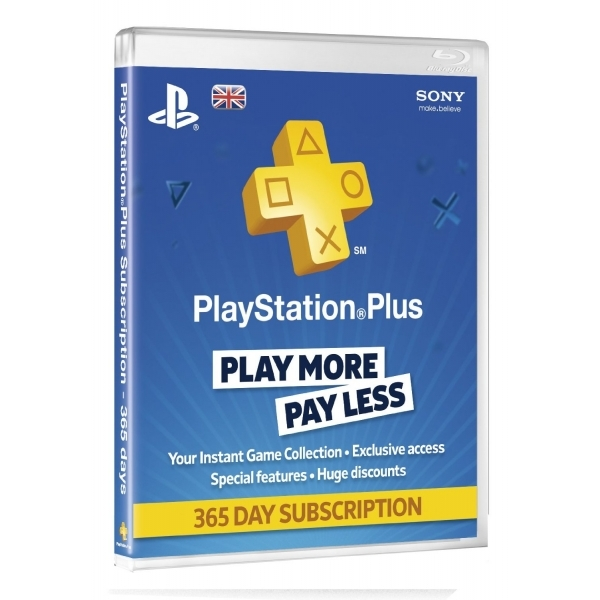 PlayStation Plus UK 1 Year Subscription Card PS3 & PS Vita & PS4 PSN  Digital Download