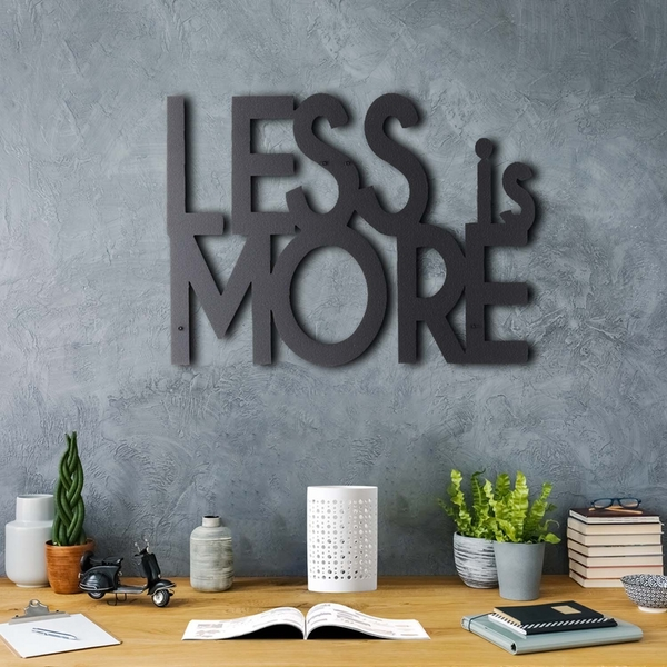 Less Is More Black Decorative Metal Wall Accessory