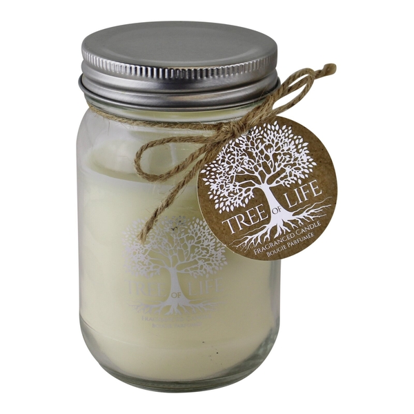 Tree Of Life Fragranced Candle In Glass Jar With Lid