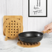 Set of 4 Bamboo Trivets with Storage Rack | M&W - Image 2