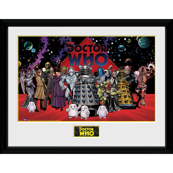 Doctor Who Villains Landscape Framed Collector Print