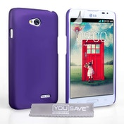 Yousave Accessories LG L70 Hard Hybrid Case - Purple