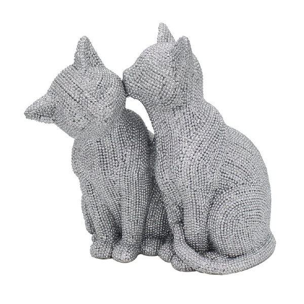 Silver Art Cats Figurine by Lesser & Pavey