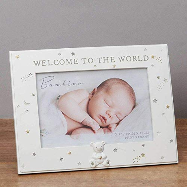 """6"""" x 4"""" - Bambino Resin Welcome to the World Photo Frame"""