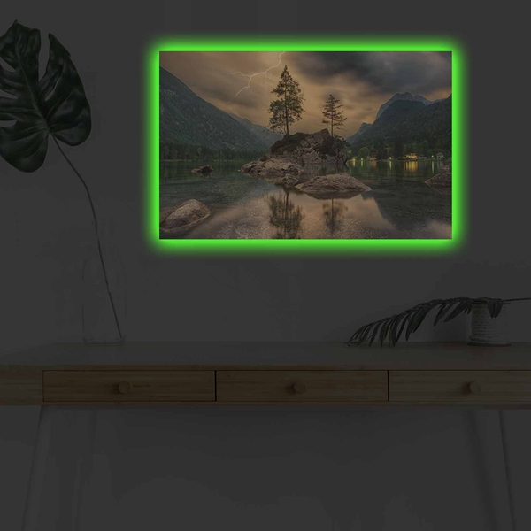 4570DHDACT-136 Multicolor Decorative Led Lighted Canvas Painting