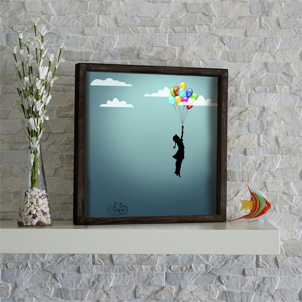 KZM528 Multicolor Decorative Framed MDF Painting