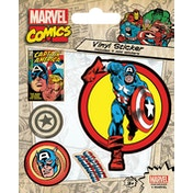 Marvel Comics - Captain America Retro Vinyl Sticker
