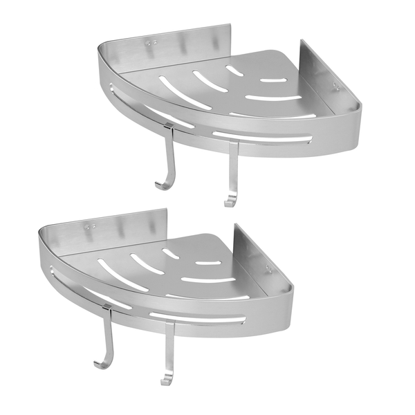 Adhesive Corner Shower Caddy | M&W 2 Tier - Image 1