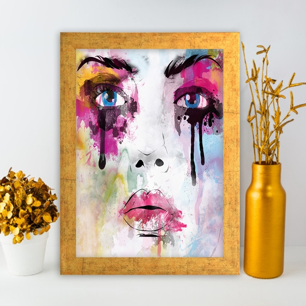 AC848730961 Multicolor Decorative Framed MDF Painting