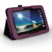 YouSave Accessories Tesco Hudl Leather-Effect Stand Case - Purple