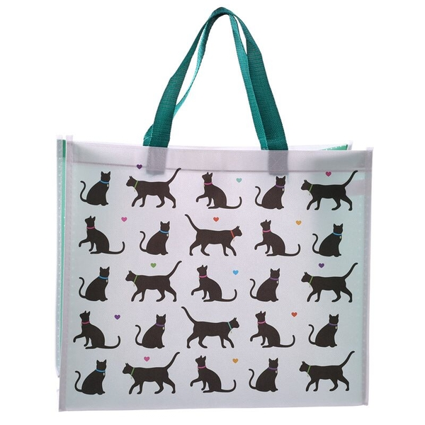 Cat Design Durable Reusable Shopping Bag