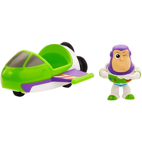 Toy Story - Buzz Lightyear Mini Figure and Spaceship Vehicle