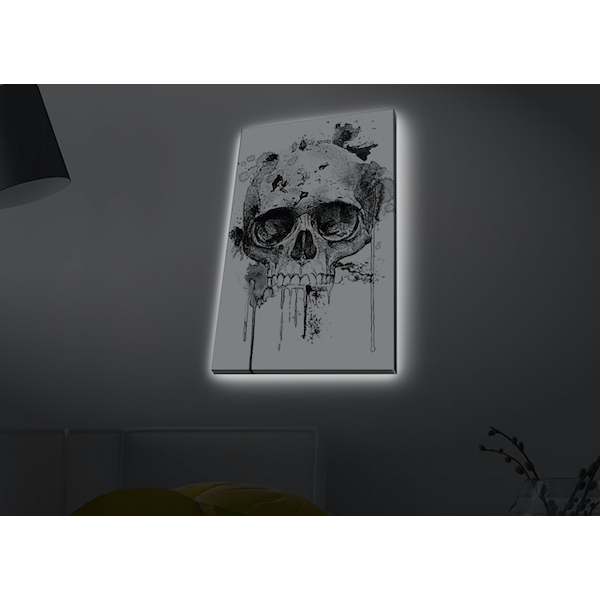 4570MDACT-065 Multicolor Decorative Led Lighted Canvas Painting