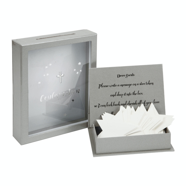 Confirmation Token Box with 3D Star Shaped Message Cards