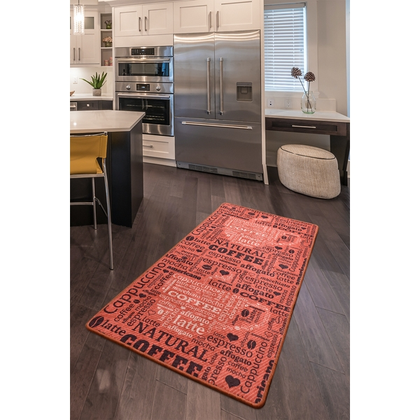 882CHL1594 Fincan - Red (80 x 200) Multicolor Rug (80 x 200)