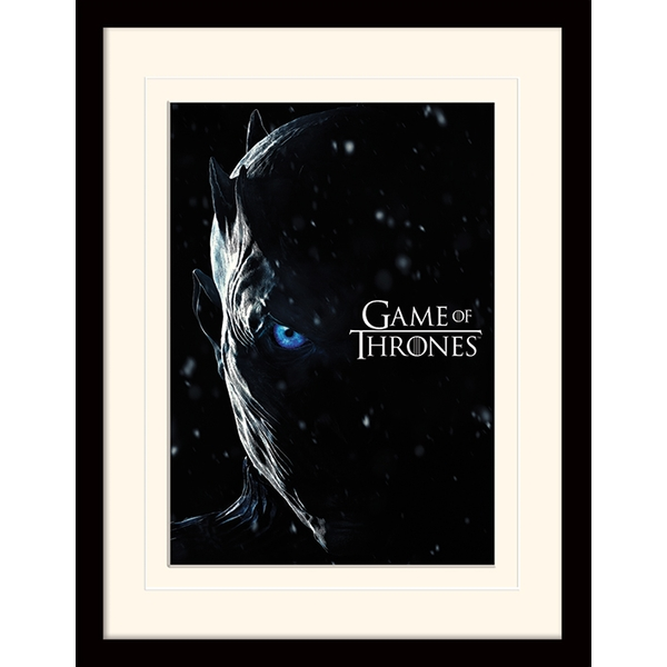 Game Of Thrones - The Night King Mounted & Framed 30 x 40cm Print