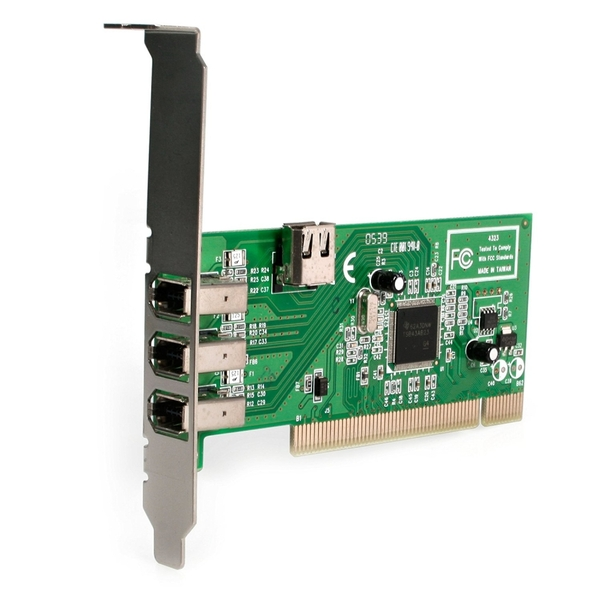 Image of Startech PCI1394MP Texas Instruments Chipset 4 Port PCI Firewire Card