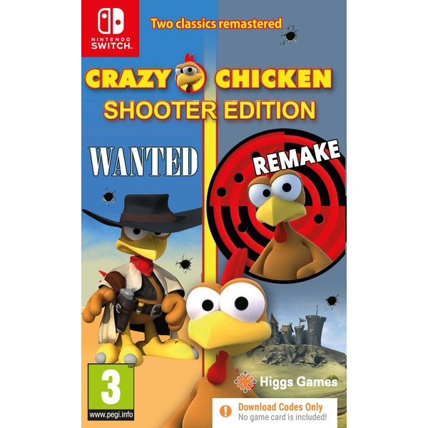 Crazy Chicken Shooter Edition Nintendo Switch Game [Code in a Box]