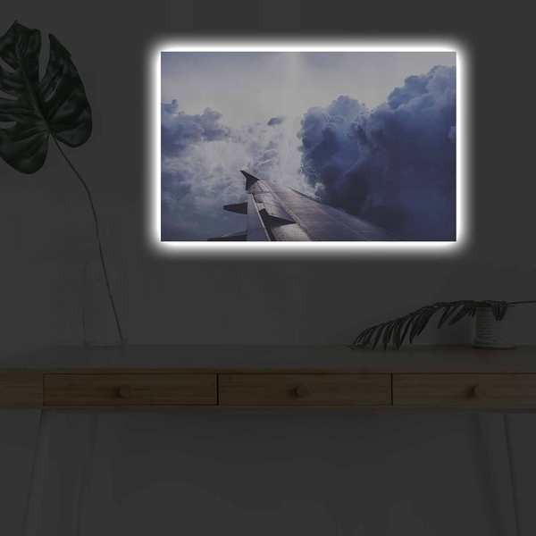 4570DHDACT-057 Multicolor Decorative Led Lighted Canvas Painting