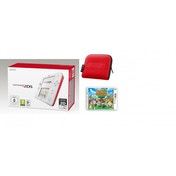 Nintendo 2DS Handheld Console Red & White UK Plug with Red Carry Case & Animal Crossing New Leaf
